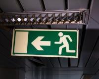 Знак аварийного выхода Стоковое Изображение