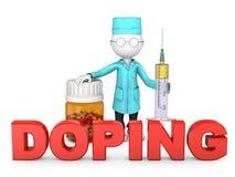 Знак давать допинг иллюстрация штока
