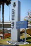 Знак авиапорта Сан-Диего Стоковая Фотография