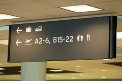 Знак авиапорта Стоковые Изображения RF