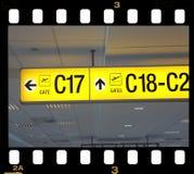 знак авиапорта Стоковое фото RF