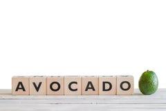 Знак авокадоа на таблице Стоковое фото RF