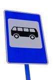 Знак автобусной остановки изолировано Стоковое Изображение