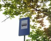 Знак автобусной остановки Стоковые Изображения