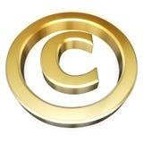 знак авторского права Стоковые Фотографии RF