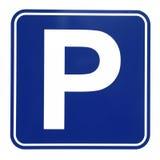Знак автостоянки Стоковая Фотография