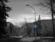 Знак автостоянки Стоковые Изображения RF