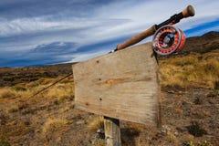 Знак лагеря рыбной ловли Стоковые Изображения