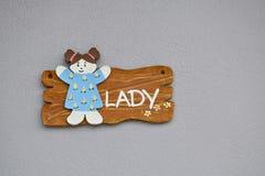 Знак дамы Стоковое фото RF