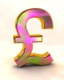 знак английского фунта Стоковое Изображение RF