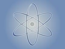 знак атома Стоковая Фотография
