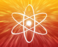 знак атома Стоковые Фото