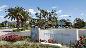 Знак адреса офиса Высок-Техника Компании Стоковое Изображение