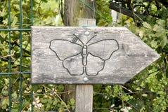 Знак бабочки Стоковая Фотография RF