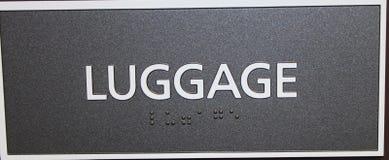 Знак багажа Стоковые Фото