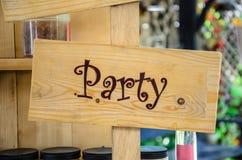 Знак бара партии крытый Стоковое фото RF