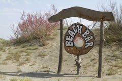 Знак бара пляжа Стоковая Фотография