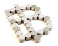 Знак бата монетки Таиланда Стоковые Изображения RF