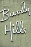 Знак Беверли-Хиллз Лос-Анджелеса Стоковое фото RF