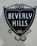 Знак Беверли-Хиллз Стоковые Фотографии RF