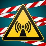 Знак безопасности Опасность предосторежения электромагнитное поле Лента барьера вектор изображения иллюстраций download готовый бесплатная иллюстрация