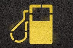 Знак бензоколонки Стоковые Изображения RF