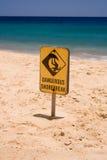знак берега пролома опасный Стоковое Фото
