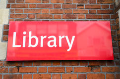 Знак библиотеки Стоковая Фотография RF