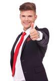 Знак бизнесмена одобренный Стоковая Фотография RF