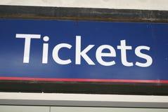Знак билетов Стоковое Изображение RF
