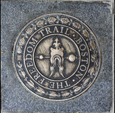 Знак Бостон Массачусетс следа свободы Стоковое фото RF