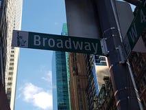 Знак Бродвей Стоковое Изображение