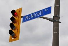 Знак бульвара McNicoll стоковое изображение rf