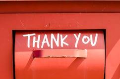знак благодарит вас Стоковые Изображения RF
