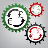 Знак валютной биржи Евро и фунт Великобритании вектор 3 соединяются иллюстрация штока