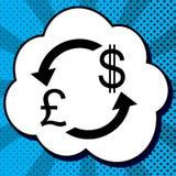 Знак валютной биржи Фунт и доллар США вектор черный бесплатная иллюстрация