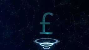 Знак валюты космоса голубой Фунт стерлингов Британии Международная валюта бесплатная иллюстрация
