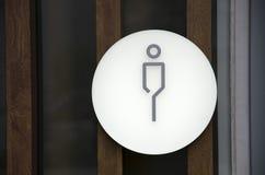 Знак ванной комнаты человека, джентльмен туалета Стоковая Фотография RF