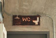 Знак ванной комнаты Стоковые Фото