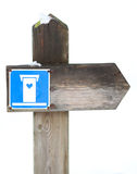 Знак ванной комнаты Стоковые Фотографии RF
