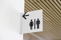 Знак ванной комнаты Стоковая Фотография RF