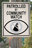 Знак вахты общины Стоковые Изображения