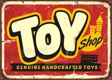 Знак вектора магазина или магазина игрушек игрушки винтажный иллюстрация вектора