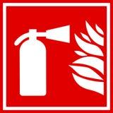 Знак вектора огнетушителя Стоковые Изображения