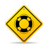 Знак вектора предохранителя пляжа Стоковое Фото