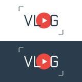Знак вектора Vlog Стоковое Изображение RF