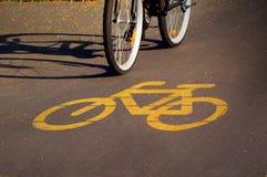 Знак велосипеда Стоковые Фото