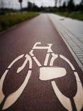 Знак велосипеда Художнический взгляд в винтажных цветах Стоковые Изображения