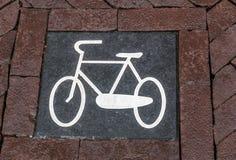 Знак велосипеда Стоковая Фотография RF