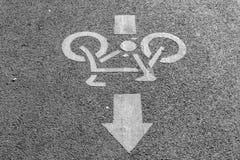 Знак велосипеда Стоковое фото RF